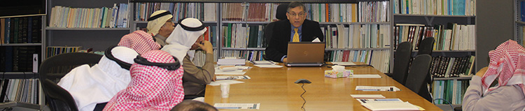 "Professor Mark R. Cohen delivering a lecture to a seminar room full of professors and graduate students at King Saud University, Riyadh, Saudi Arabia. (December 2014) Cohen gave two lectures there: ""What is the Geniza and What does it tell us""  and ""The Importance of the Geniza for Islamic History"""