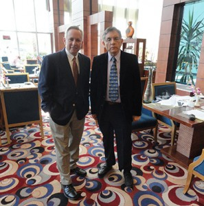 Joseph Preville (l) and Mark Cohen (r) in Riyadh, Saudi Arabia